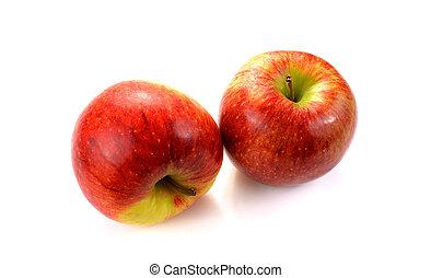 blanc, pomme, rouges, isolé