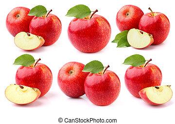blanc, pommes, fond