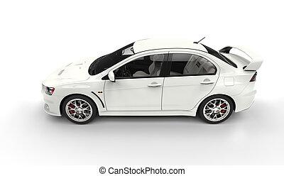surveiller voiture isol blanc vue c t voiture blanc dessin rechercher des. Black Bedroom Furniture Sets. Home Design Ideas