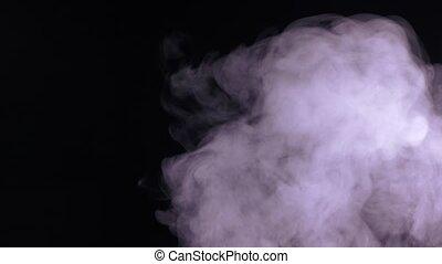 blanc, résumé, eau, fond, noir, vapeur