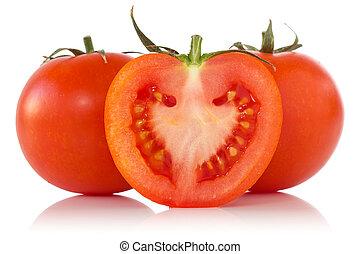 blanc, reflet, fond, tomates