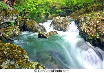 blanc, rivière