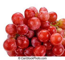 blanc rouge, raisins, isolé