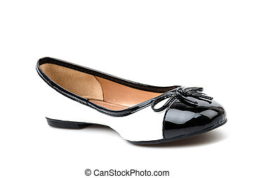 blanc, sandale, chaussures, fond, isolé