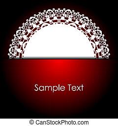 blanc, serviette, arrière-plan rouge