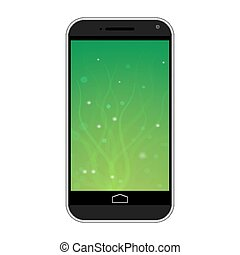 blanc, smartphone, fond