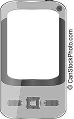 blanc, smartphone, gris, fond, isolé