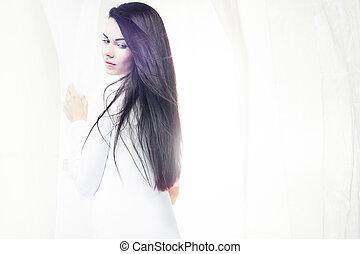 blanc, soie