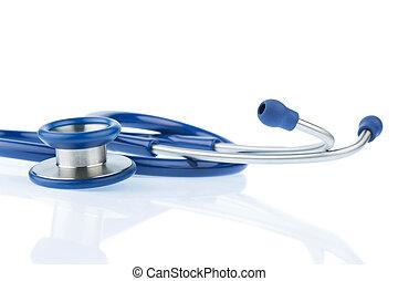blanc, stéthoscope, contre, fond
