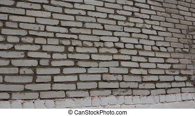 blanc, steadicam, brique, hd, wall.