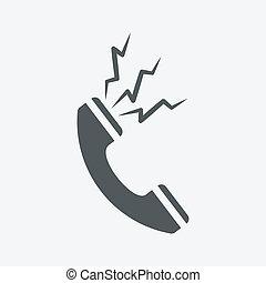 blanc, téléphone, fond