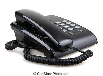 blanc, téléphone, isolé