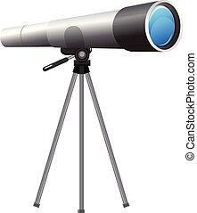 blanc, télescope, fond