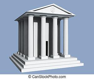 blanc, temple