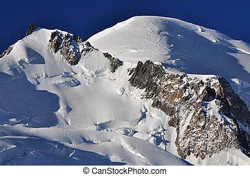 blanc, tracciato, cima, mont, cosmique