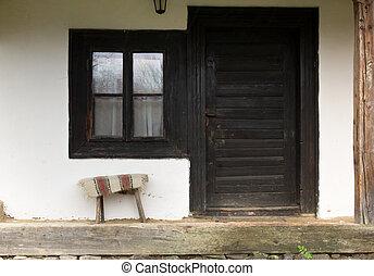 Maison door noir gris ext rieur pierre porte maison gris wall noir ext rieur for Porte exterieur noir
