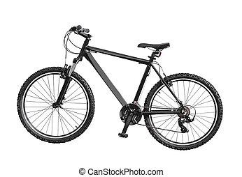 blanc, vélo, isolé