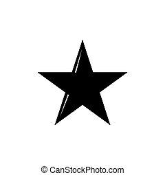 blanc, vecteur, étoile, fond, isolé, icône