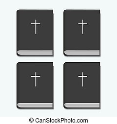 blanc, vecteur, fond, bible