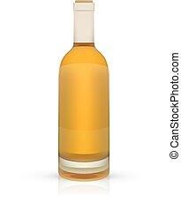 blanc, vecteur, fond, bouteille, vide