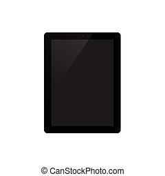 blanc, vecteur, fond, illustration, tablette