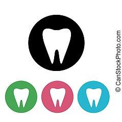 blanc, vecteur, illustration, dent