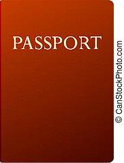 blanc, vecteur, isolé, passeport