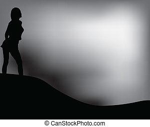 blanc, vecteur, noir, illustration