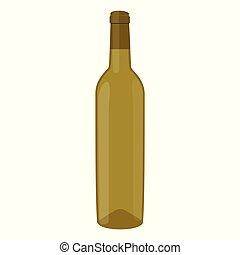blanc, vecteur, vin