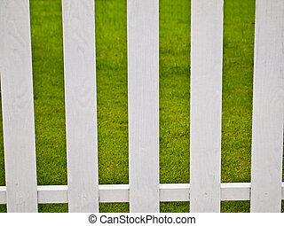blanc, vert,  grass1, barrière