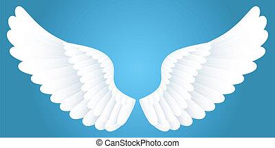 blanc, wings.