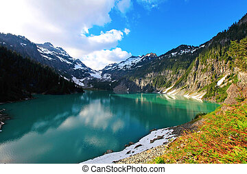 Located in the Henry M. Jackson Wilderness Area, this beautiful turquoise green lake is the goal on this gem of an adventure. Only accessible by foot. 2 hours from Seattle. Elevation Gain: 2700 ft in, 600 ft out Time (RT): 5 hours Distance (RT): 8 miles total