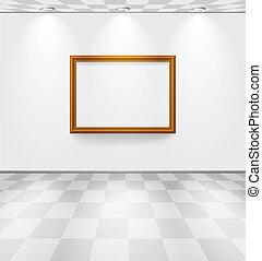 blanche salle, cadre