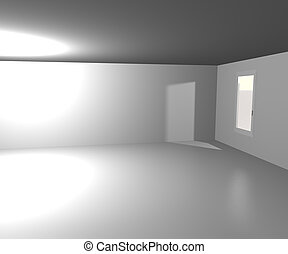 blanche salle, fond
