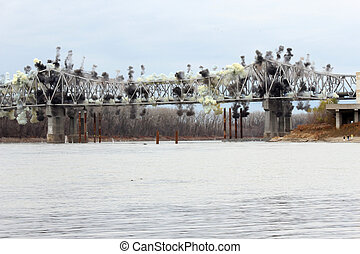 Blanchette Bridge Demolition over Missouri River