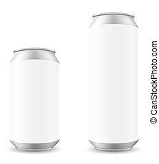 blanck, 插圖, 啤酒, 矢量, 罐頭, 樣板