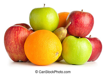 blanco, aislado, fruits