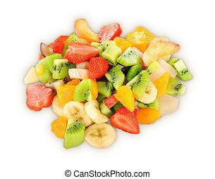 blanco, aislado, plano de fondo, fruits
