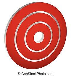 blanco, anillos, /, marca, círculos, concéntrico,...