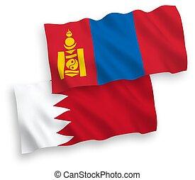 blanco, bahrein, mongolia, banderas, plano de fondo