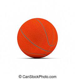 blanco, baloncesto, aislado, plano de fondo