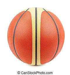 blanco, baloncesto, plano de fondo, aislado, pelota