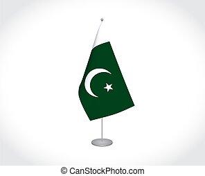 blanco, bandera de paquistán, plano de fondo
