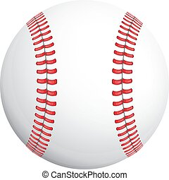 blanco, beisball, rojo, stich, pelota
