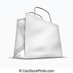 blanco, blanco, bolso de compras