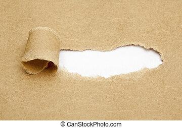 blanco, blanco, papel roto, espacio