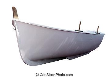blanco, boat., aislado, encima, blanco
