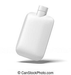 blanco, botella, de, acondicionador