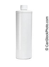 blanco, botella plástica