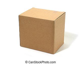 blanco, caja, cartón